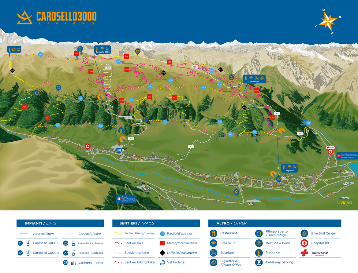 Livigno's Summer Map