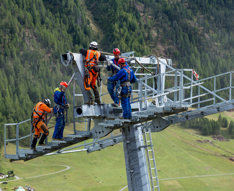 The figures of the new cableway